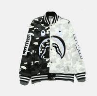 Wholesale Uniform Cardigan Sweater - 2017 fashion Harajuku tide brand hip hop yeezus hip hop black and white mosaic baseball uniform camouflage jacket sweater stitching shar