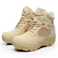 Wholesale Desert Special Combat Boots - Men Quality Brand Military Leather Boots Special Force Tactical Desert Combat Boats Outdoor Shoes Free Shipping