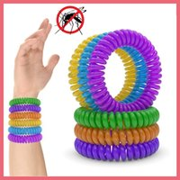 Frete Grátis Mosquito Insect Repelente Band Braceletes Anti Mosquito Pure Natural Bebé Wristband Hand Ring 112901