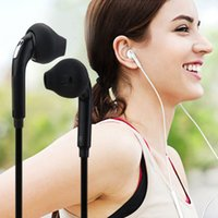 Wholesale Headphone Control Sport - 3.5mm Wired Earphone Stereo Headphones Portable Sport Running Headset with Mic Volume Control Universal for iPhone Samsung S6