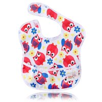 Wholesale plain baby clothes - Ohbabyka Baby Girl Boy Waterproof Superbib Baberos Bebes Kids Feeding and Eating Bibs with Pocket Adjustable Burp Clothes 10PCS