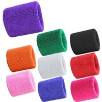 Wholesale Terry Cloth Sweatband Wholesale - Wholesale- Men & Women Sports Sweatband Terry Cloth Wrist Sweat Bands Tennis Squash Badminton Basketball Wristband Gym Crossfit Wrist Wraps