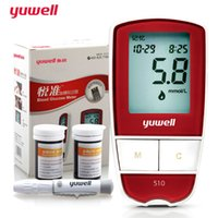 Wholesale yuwell monitors blood glucosemeter yuyue blood sugar tester glucometer monitor diabetes tester blood sugar machine FDA strips