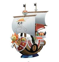 Wholesale Kids Pirate Ships Toys - 20cm One Piece Sonny Thousand Sunny Pirate Ship Model PVC + ABS Assembled Decoration Collection Action Figures Gift With Box
