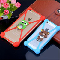 Wholesale Huawei Phone Cartoon Case - Universal 3D Cartoon Silicon Rubber Cases For iPhone 7 6 Plus Samsung For LG For Huawei Anti-Shock Holder Phone Casee Frame