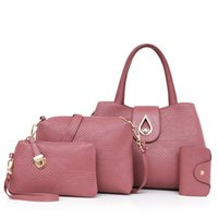 Wholesale leather bags hot pink for sale - 2017 Hot sale Luxurious Composite Bags set single shoulder bag crossbody bags handbags women bag