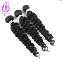 Wholesale French Bundle - 3 Bundles Virgin Brazilian Wavy Hair French Twist 100% Human Bundles Wet And Wavy Virgin Brazilian Hair Natural Hair Weave