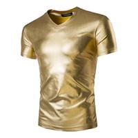 Wholesale Men Wet Shorts - New light cultivate one's morality short sleeve T-shirt man shiny wet T-shirt 5374