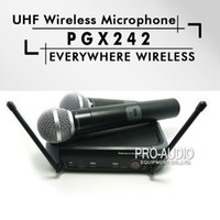Wholesale Microphone Conference Meeting - Free Shipping! Professional PGX242 Handheld Wireless Microphone Mic Karaoke System For Meeting Teaching Vocal Stage Party Show