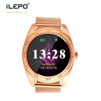 Wholesale Silver Water Proof Watch - Wrist watch compatible with android IPS round screen Bluetooth V4.0 life water proof smart watch for any phone