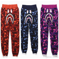Wholesale Hip Hop New Products - New Style Hip-hop The Product Sell Like Hot Cakes Men's Shark Head Japan Luminous Camouflage Loves Trousers Flight Zip Sports Small Pan