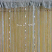 Wholesale Room Screen Divider - Wholesale- 5 Colors Romantic String Curtain With Crystal Tassel Curtain Decorative Door Screen Window Curtains Blinds for Bed Room Divider
