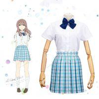 Wholesale Anime School Uniform - A Silent Voice Shouko Nishimiya Cosplay Anime Japanese The Shape Of Voice School Uniform