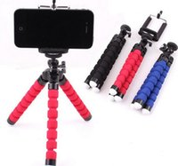 Trépied Monté Sur Voiture Pas Cher-Porte-trépied flexible 3 col pour téléphone cellulaire Appareil photo de voiture Universal Mini Octopus Sponge Stand Bracket Selfie Monopod Mount With Clip by dhl