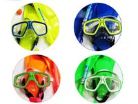 conjunto de snorkel para crianças venda por atacado-Snorkels Define Crianças Mergulho Terno Diving Óculos Tubo de Respiração Três Set Adolescentes Snorkeling Essencial Colorido Popular Moda 32og