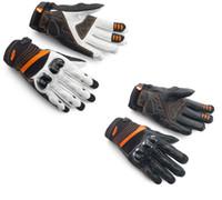 guantes de protección de verano al por mayor-Envío libre verano KTM RADICAL X guantes de carreras de motos de cuero MOTO motobik motocross con protección guante de shell