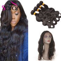 Hot Sale 360 ​​Lace Frontal com Bundles Brazilian Virgin Hair Body Wave com fecho frontal 3 pacotes com encerramento de renda