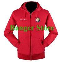 Wholesale Fleece Shop - Wholesale- Alfa Romeo sweatshirts coat custom Alfa Romeo 4S shop hoodie jacket for men and women