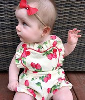 HUG ME Baby Dress Baby Girls Princess Dress Summer Bambini Strawberry Printed Falbala pagliaccetto Kids suspender Cotton Baby Sling salopette