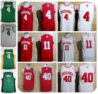Wholesale Victor Shirt - Throwback Indiana Hoosiers College Basketball Jersey University 4 Isiah Thomas 11 Victor Oladipo 40 Cody Zeller Shirts Retro Stitched Jersey