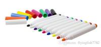 Wholesale marker stickers - Environmentally Colorful Ink Liquid Chalk Marker Pen for Chalkboard Blackboard stickers Glass Window School Office