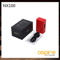 Wholesale Aspire Cell - Aspire NX100 TC MOD 100W 18650 & 26650 Cell Mod Logo Customization Child Lock Firmware Upgradable Color settings 100% Original