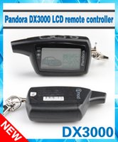 Wholesale Remote Car Starter Lcd - Wholesale-2016 Free shipping Pandora DXL3000 two way LCD remote starter car alarm system Pandora DXL 3000 Russian version