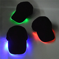 Wholesale Lighted Hats For Sale - hot sale 7 colors LED Light Hat Glow Hat Black Fabric For Adult Baseball Caps Luminous Selection