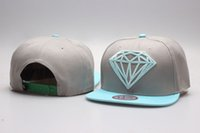 Wholesale Head Wear Cap - snapback grey blue Diamond Supply Co. classic Snap back Hats street hats baseball caps Are The Most Of Head Wear Now YP_5092