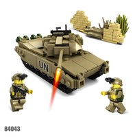 Wholesale Kazi Blocks - Kazi 2017 Mammoth Tank France Leclerc Main Battle Tank Building Blocks Toy 3D model