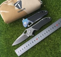 Wholesale TUYAKNIFE new F20 m390 blade titanium carbon fiber handle outdoor camping hunting pocket fruit knife EDC tool