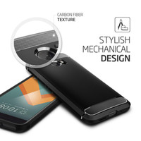Wholesale Parts Accessories For Mobile - Mobile Phone Accessories Parts Mobile Phone Bags Cases Aliantech Rugged Armor Case for HTC 10 Carbon Fiber Texture Soft TPU Fitted Cases
