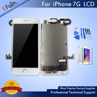 Wholesale Display Iphone Home - For iPhone 7 White Display LCD With Touch Screen Digitizer Replacement With Home Button + Camera & Free Shipping