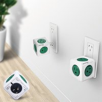Universal outlet universal switch - Allocacoc V A PowerCube Power Socket US Plug Outlets Adapter Piece with Multi Switched Socket B