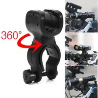 Facile Rotation Swivel Bicycle Mount Road Bike Phare Phare Lampe Torch Head Light Support de lampe Bracket Clamp Clip Grip Black