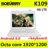 Atacado- Tablet pc 10.1 polegadas K109 4G LTE Android 6.0 tablet pc octa núcleo 4GB RAM 128GB ROM 5MP IPS Tablets Telefone 1920X1200 + teclado