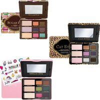 Wholesale Eye Shadow Cute - Hot item Famous Brand sugar pop cat eyes totally cute too faced eyeshadow palette makeup sweet peach eye shadow cosmetics 1 set 9 colors