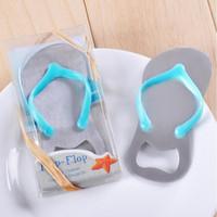 ingrosso apribottiglie di flip flop-Accessori per apri bottiglia di birra Slipper Regali di nozze Regali Blu Flip-Flop Sandalo Apri di bottiglia Slipper Wine Opener 5.5 * 10cm DHL
