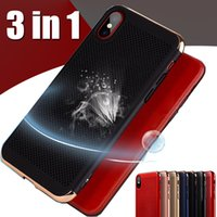 Wholesale Hard Heat - Hollow Heat Dissipation Case 3 in 1 Electroplate Ultra Thin Hard PC Shcokproof Protective Spray Cover For iPhone X 8 7 Plus 6 6S Samsung S8