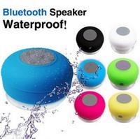 Wholesale wireless handsfree for laptop resale online - Portable Waterproof Speaker Mini Wireless Bluetooth Handsfree Bathroom Shower Speakers All Devices For Iphone laptop Showers Bathroom