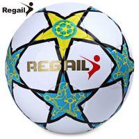 ingrosso calcio sintetico-Regail Stella a cinque punte PU Calcio in pelle sintetica durevole Soft Touch Calcio per giovani adolescenti Gioco Soccer Training + B