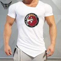 Wholesale Simpson Flash - Muscleguys brand HellFish (Abe Simpson) T-Shirt Mens gyms clothing fitness men Slim shirt fashion cool funny short sleeve tshirt
