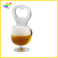 Wholesale Best Price Plastic Models - Best Price Promotional Gift Acrylic Beer Mug Opener With Fridge Magnet Factory 36pcs lot Polybag Packing Drop Shipping