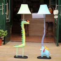 Wholesale Floor Stand Lamps - Wholesale-Promotion Fabric Cartoon Floor Lamp Lovely Creative Animal Floor Lamp Bedroom Standing Lamps Cartoon Elephant Floor Lamp