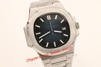 Wholesale Transparent Digital Watch - Hot seller aaa luxury brand watches Luxury high quality automatic men watch blue dial Sapphire stainless steel Transparent glass back pp men