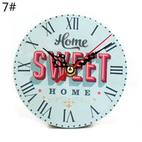 Grossiste-Horloge murale décorative Saat Quartz Mute Digital Watch Vintage Rétro Horloge murale Relogio pared Klok Horloges