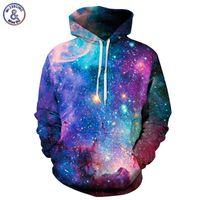 Wholesale Star Galaxy S - Hip Hop Space Galaxy Hoodeis Men Women Hooded Hoodies Cap 3d Sweatshirt Print Stars Angles Hoody Tracksuits Pullover