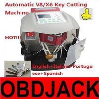 Wholesale Automatic Car Key - New Arrival! 2017 Automatic V8 X6 Key Cutting Car Key Cutting Machine V8 Auto Key Programmer Fast