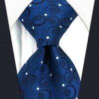 geometrische marken krawatten großhandel-A35 Navy Silber Geometrische Herren Krawatte Seide Mode Hochzeit Kleid Krawatten für männliche Marke Neue Neuheit