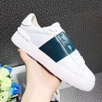 Wholesale recreational sports - The new 2017 high quality leather men women's leisure sports shoes luxury brand comfortable breathable recreational shoe size 35 ~ 44